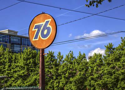 Monochrome Landscapes - Union 76 in Asheville by Valerie Mellema