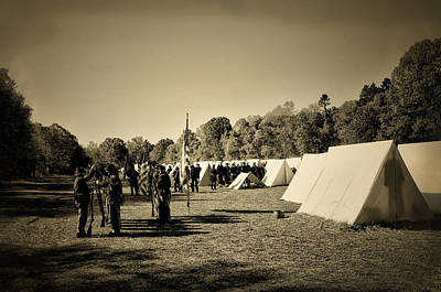 Union Army Camp - Civil War Art Print by Bill Cannon