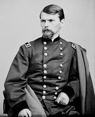 Upton Photograph - Union Army General Emory Upton 1862 by Mountain Dreams
