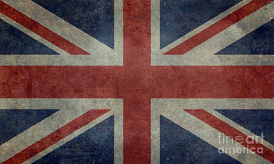 Union Jack 3 By 5 Version Print by Bruce Stanfield