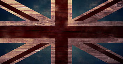 Aged Wood Digital Art - Union Jack I by April Moen