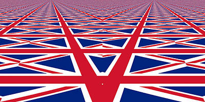 Photograph - Union Jack Perspective by Kurt Van Wagner