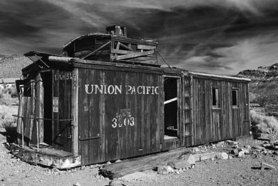 Photograph - Union Pacifi Caboose At Ryholite Nevada by Greg Kluempers