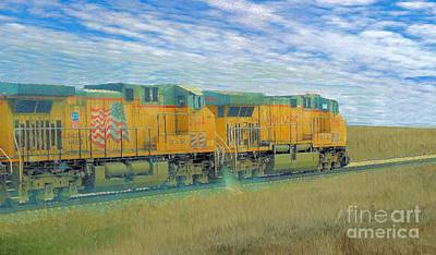 Photograph - Union Pacific 5944 Coal Train by Janette Boyd