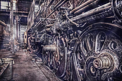 Photograph - Union Pacific 838 In Roundhouse by Ken Smith