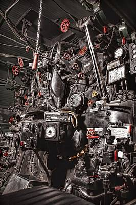 Engine House Photograph - Union Pacific 844 Backhead Detail by Ken Smith