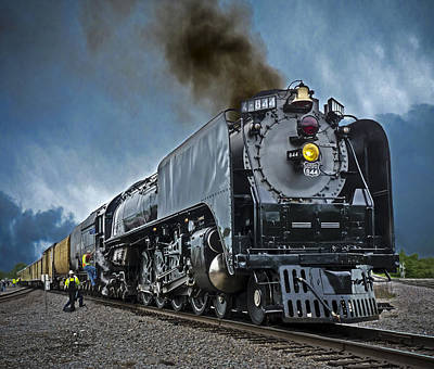 Union Pacific 844 Photograph - Union Pacific 844 by F Leblanc