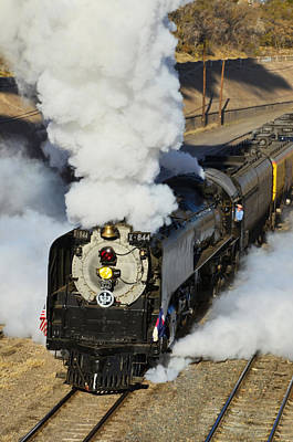 Union Pacific 844 Photograph - Union Pacific 844 Full Steam by Ken Smith