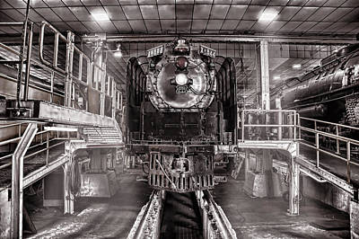 Union Pacific 844 Photograph - Union Pacific 844 In The Steam Shop by Ken Smith
