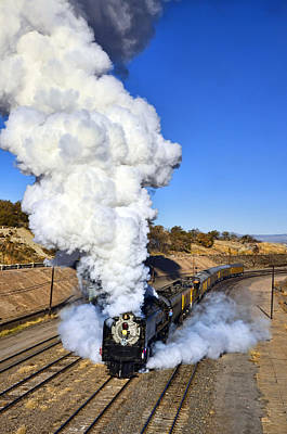Photograph - Union Pacific 844 Morning Plume by Ken Smith