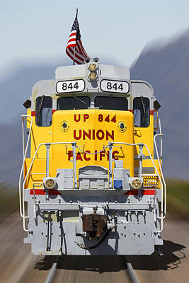 Union Pacific 844 On The Move Art Print by Mike McGlothlen