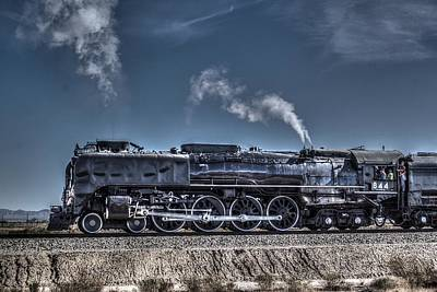 Art Print featuring the digital art Union Pacific 844 by Photographic Art by Russel Ray Photos