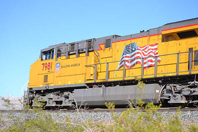 Photograph - Union Pacific Engine 7981 by rd Erickson