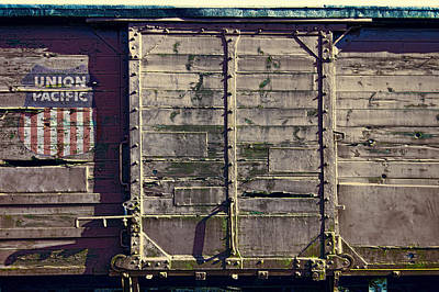 Union Pacific R R Boxcar Art Print by Daniel Hagerman