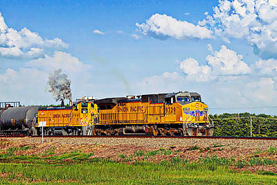 Photograph - Union Pacific Railroad 1 by Walter Herrit