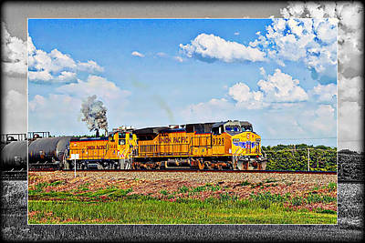 Photograph - Union Pacific Railroad 2 by Walter Herrit