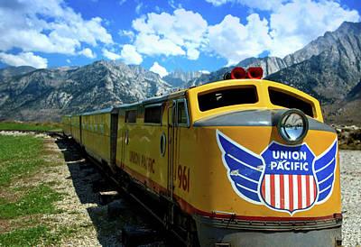 Photograph - Union Pacific Railroad Miniature Passenger Train by Tim McCullough