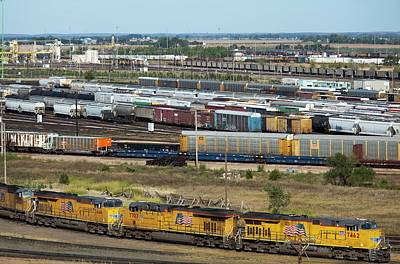 Union Pacific Photograph - Union Pacific Railroad's Bailey Yard by Jim West