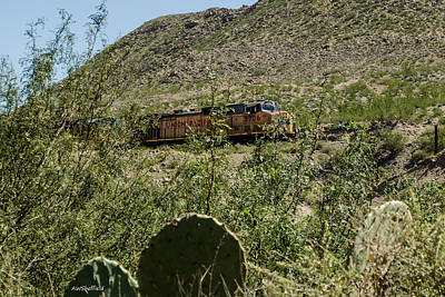 Photograph - Union Pacific Through The Desert by Allen Sheffield