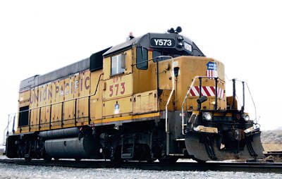 Children Mechanized Photograph - Union Pacific Yard Master by Steven Milner