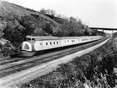 Union Pacific Photograph - Union Pacific's Streamliner by Underwood Archives