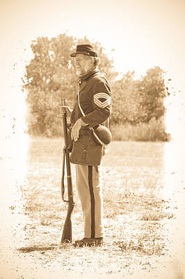 Photograph - Union Soldier by Steve McKinzie