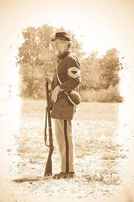 Photograph - Union Soldier by Steve McKinzie
