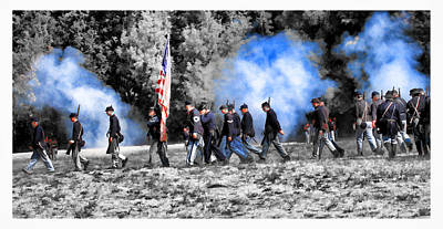 Photograph - Union Soldiers March by Steve McKinzie
