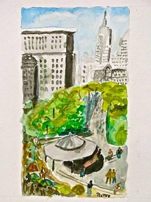 Union Square Art Print by Natey Freedman