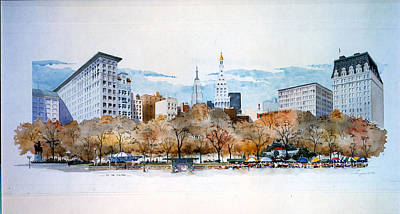 Union Square Nyc Art Print