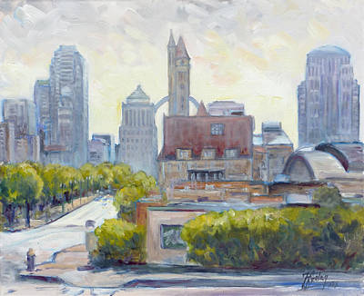 Downtown Painting - Union Station And Market Street by Irek Szelag