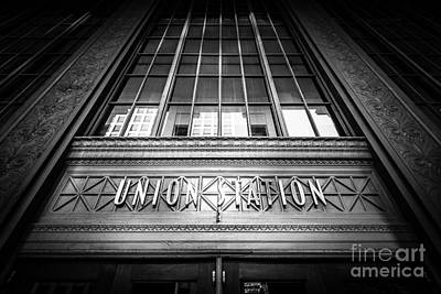 Terminal Photograph - Union Station Chicago In Black And White by Paul Velgos