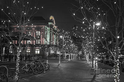 Selective Color Photograph - Union Station In The Winter by Juli Scalzi