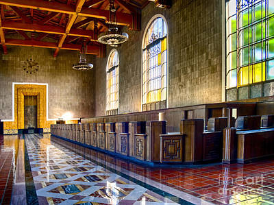 Photograph - Union Station Interior- Los Angeles 2 by David Doucot