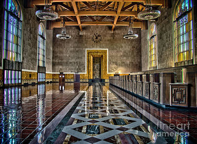 Photograph - Union Station Interior- Los Angeles by David Doucot