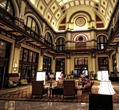 Union Station Lobby Photograph - Union Station Interior Nashville Tennessee by Dan Sproul