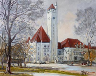 Downtown Painting - Union Station Saint Louis by Irek Szelag