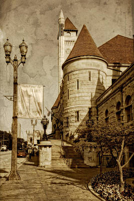 Photograph - Union Station Sidewalk View Sepia Dsc01319 by Greg Kluempers