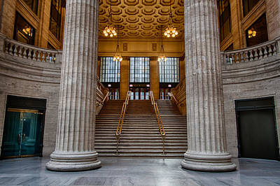 Union Station Stairs Art Print by Mike Burgquist