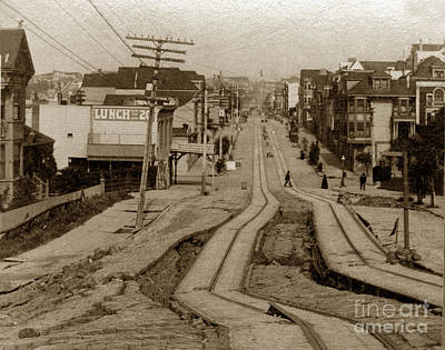 Photograph - Union Street San Francisco Earthquake And Fire Of April 18 1906 by California Views Mr Pat Hathaway Archives