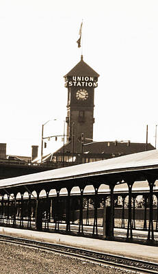 Photograph - Union Street Station Clock Tower by Patricia Babbitt