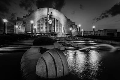 Photograph - Union Terminal At Night by Keith Allen