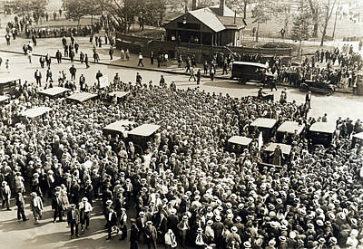 Union Workers In Union Square Print by Underwood Archives