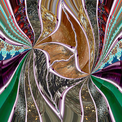 Mixed Media - Unique Abstracts Using Multiple Rareearth Stones Crystals Textures And Patterns by Navin Joshi