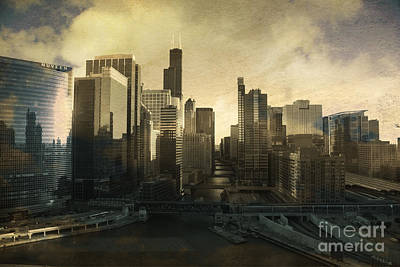 Photograph - Unique Chicago Skyline by Linda Matlow