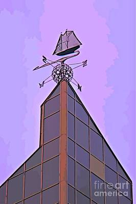 Bluenose Painting - Unique Weathervane Graphic by John Malone Halifax graphic artist