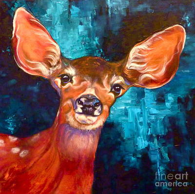 Uniquely Fawn Art Print by Susan A Becker
