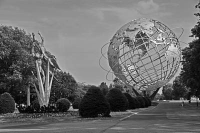Unisphere In Corona Park Art Print by Mike Martin