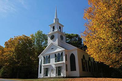 Unitarian Meeting House And Town Clock - Warwick - Massachusetts Art Print