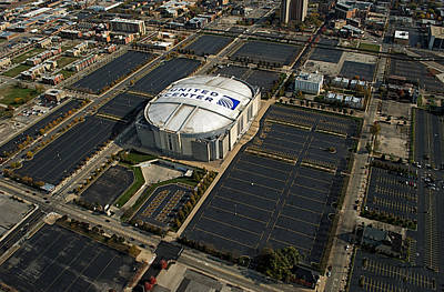 United Center Chicago Sports 10 Art Print by Thomas Woolworth